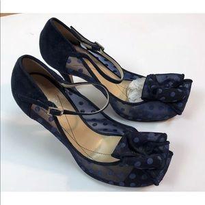 2aca7ba01f49 kate spade Shoes - Kate Spade Didi Shoes Navy Blue Mesh Polka Dot